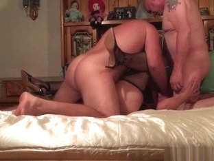 Older couple invites a young stud to join them