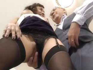 Sexy slut with booty in nylons is hungry for love