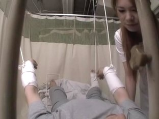 Kei fucks her patient's chopper in asian voyeur video