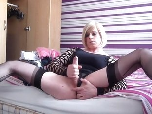 Horny Homemade Shemale clip with Mature, Masturbation scenes