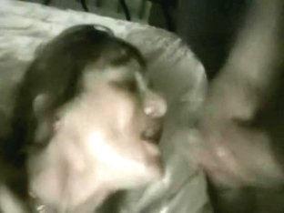 Wife sucks cock and gets facial