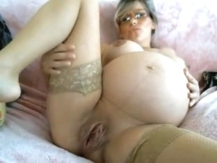 Huge belly on private cam