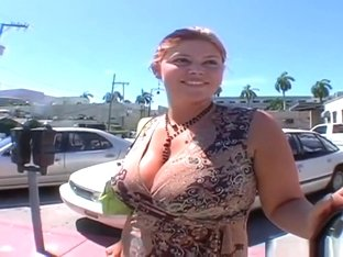Alluring redhead mom Eden 38 DD in blowjob video