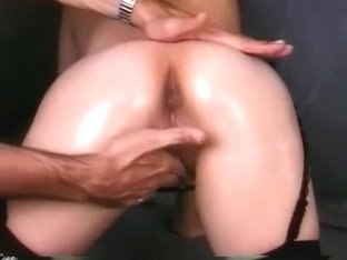 Redhead Narumi poses in her lingerie and sticks her ass out to get fingered