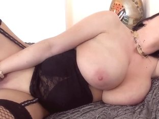 Beautiful sappy woman is masturbating well