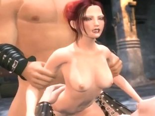 Sexy animated redhead gets banged
