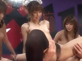 Exotic Japanese slut Riko Tachibana, Mei Itoya, Azumi Harusaki in Incredible Group Sex, POV JAV sc.
