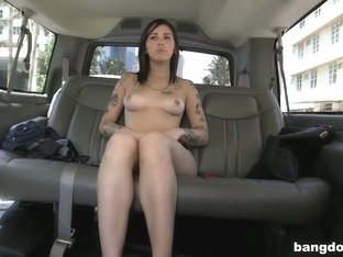 Sexy Brunette fucked On The BangBus