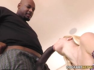 Riley Star Interracial Footjob
