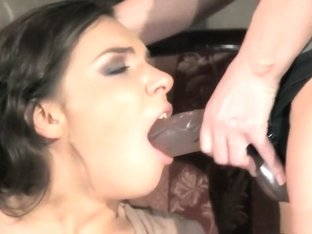 Hot brunette gets taken to the dungeon to be at her mistresses whim