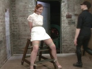 Jodi Taylor Eager slut elaborately bound caned zapped and fucked