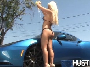 Tempting blonde Alexis Ford slammed after washing car