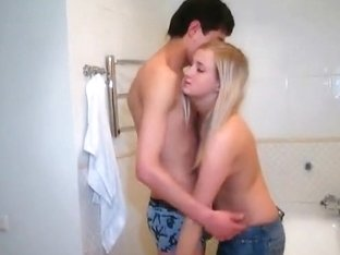 Young lovers in the bath