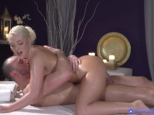 Lovita Fate & Stirling Cooper in Oiled Firm Young Blonde Masseuse - MassageRooms
