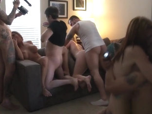 Orgy Babes Mouths Spunked