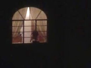 Hot milf neighbor flashing boobs in the window