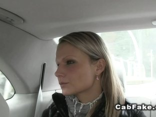 Euro blonde fucked on the cabs hood