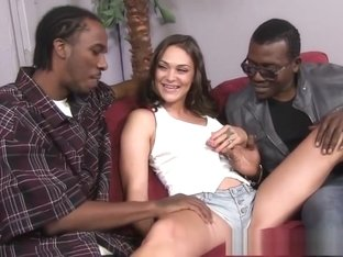 Sweetheart Olivia Wilder knows how to please big black cocks
