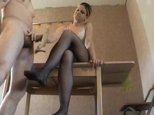 hot lady bitch goddess gives a shoejob
