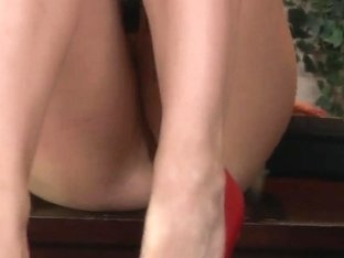 Big titty office slut Chanel Preston in red shoes gets shagged