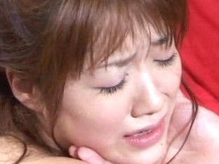 Asian milf Yu Aizawa is gagged and fucked in threesome group