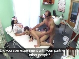 Doctor And Nurse Fuck Teen In Hospital