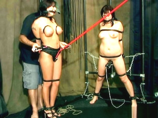 Bondage 2 woomen tied to orgasm