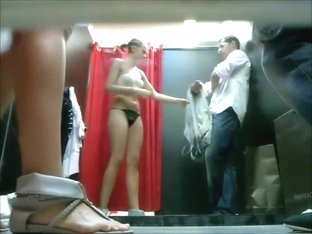 Spying a couple in fitting room