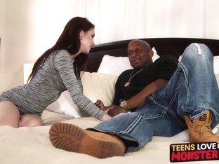Teen redhead Anna DeVille drilled by stepbros black monster