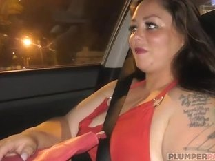 Sexy Plumper Vanessa London Picked up at Bus Stop and Fucked