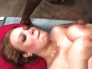 Naturally Busty Redhead Babe Caught Masturbating