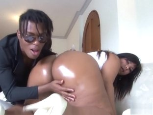 Desirable Latina with a massive booty fucks a black dick with passion