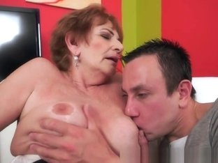 Cockloving Granny Pussyfucked By Young Cock
