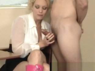 Super Star Charlee Chase Gives Bubblegum Handjob & Blowjob!
