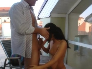 Anal on the terrace with Claudia