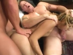 Kat is gaped wide open after threesome of anal sex