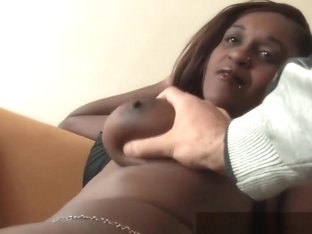 Busty African Chick Riding