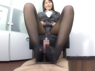 Kozue Hirayama nice Asian milf is foot job expert