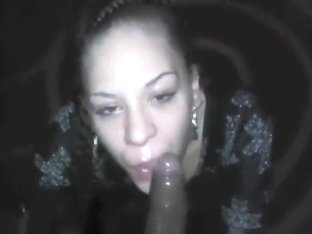 Blowjob Champ Deepthroats a Black Cock