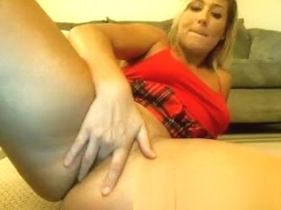 Busty blonde Anette Dawn having a horny solo masturbation