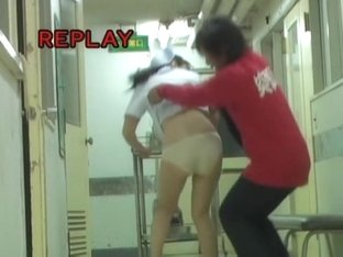 Man trying to shark poor medical worker panty
