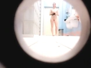 Spying on young girls in the public shower