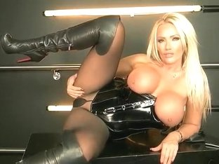 Lucy Zara fun in latex.