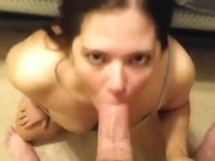 Huge facial after outstanding blowjob