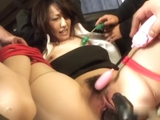 Horny Japanese model Anno Kiriya in Best JAV uncensored Stockings scene