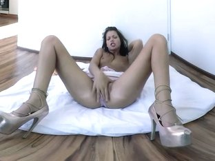 Brunette Shows You Her Naughty Side - Solo Model In High Heels With Toy - VRPussyVision