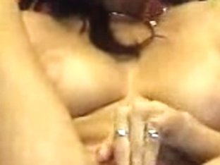 Hot brunette fill her wet juicy pussy with a pink dildo