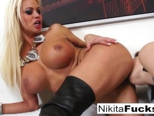 Nikita Von James  Alison Moore in Big Tittie Lesbians Play Around On The Couch - NikitaVonJames
