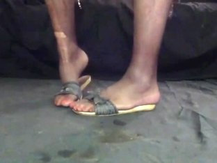 Cd mules heels flats flip flops feet soles nylon painted toe