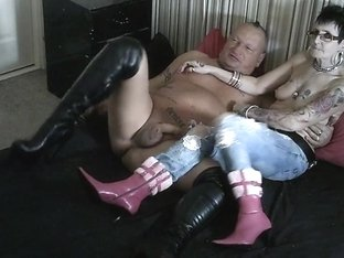 Ripped Jeans For My Dirty PVC Milf